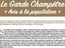 Le Garde Champêtre «Avis à la population»