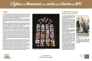 L'Eglise et le Monument aux morts de la Guerre de 1870